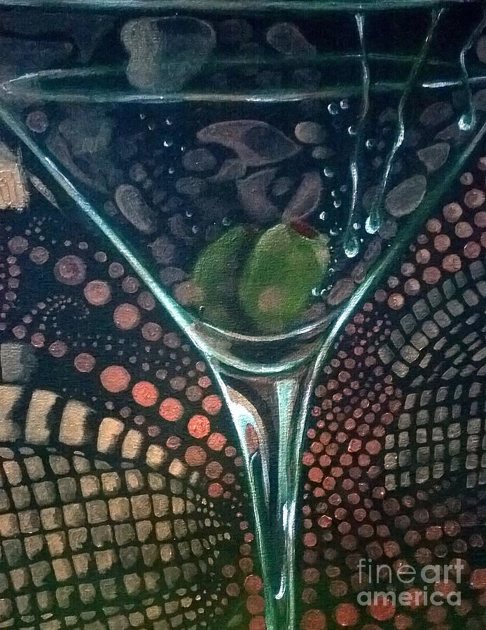 After Five Martini Glass Painting