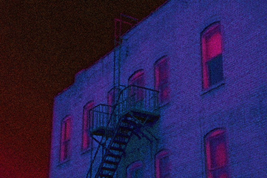 Bristol Photograph - after hours glow -Seurat Style by Denise Beverly