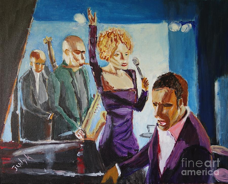 Music Painting - After Hours by Judy Kay
