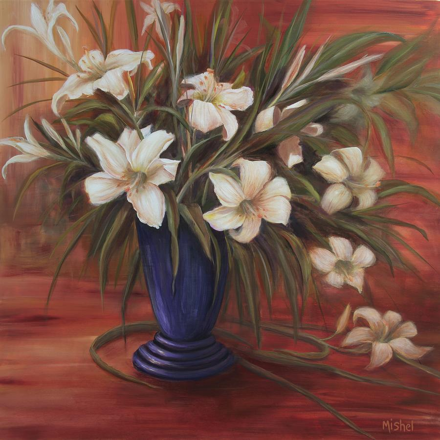 After Noon Lilies by Mishel Vanderten