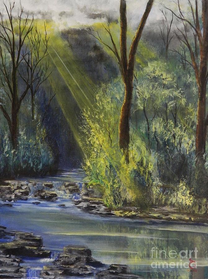 Landscaping Painting - After Rain by Daniel Sanchez