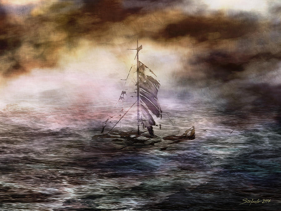Fractal Painting - After Storm by Stefano Popovski