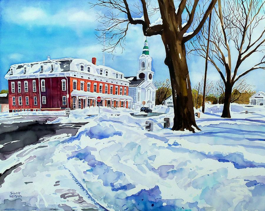 Grafton Painting - After The Grafton Common Snow by Scott Nelson