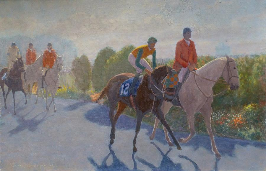 Horse Racing Painting - After The Race by Terry Perham