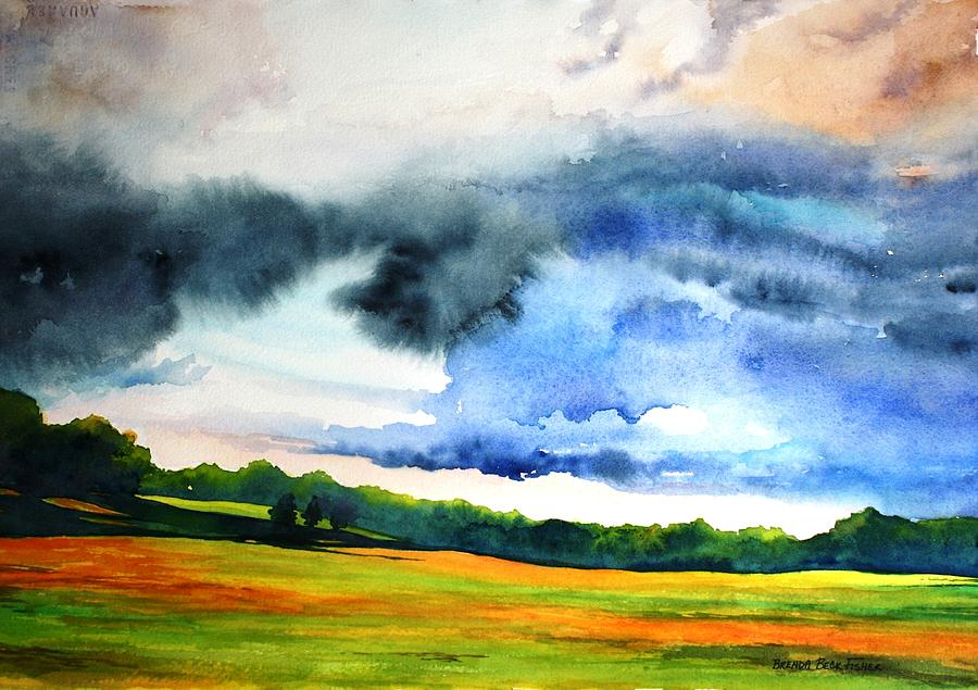 Storm Painting - After the Rain by Brenda Beck Fisher
