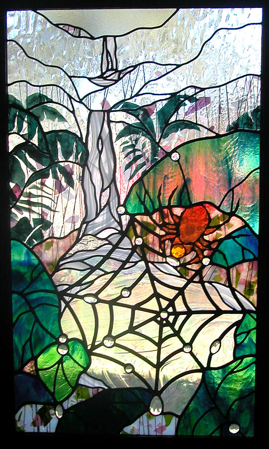 Glass Glass Art - After The Rain by Christine Alexander