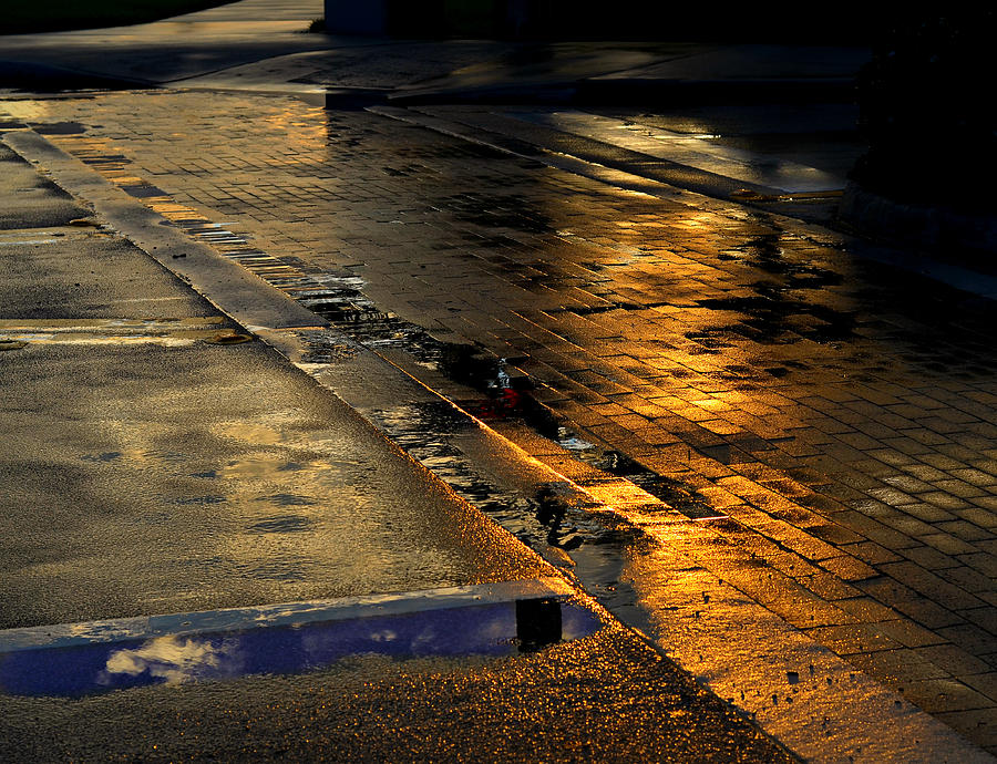 Street Photograph - After The Rain by Laura Fasulo