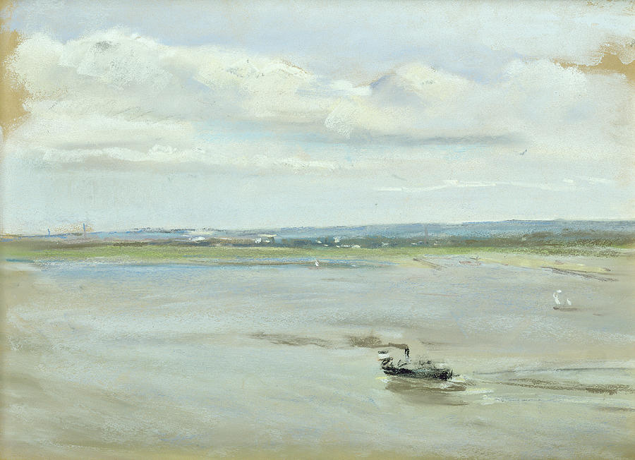 Boat Painting - After The Rain by Max Liebermann