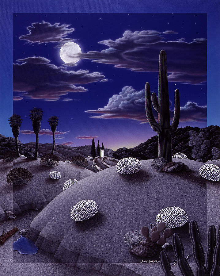 Desert Painting - After The Rain by Snake Jagger