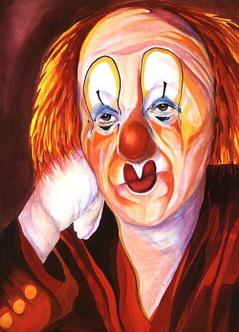 Clowns Painting - After The Show by Carolyn LeGrand