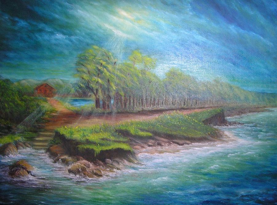 Oil Painting - After The Storm by Affordable Art Halsey