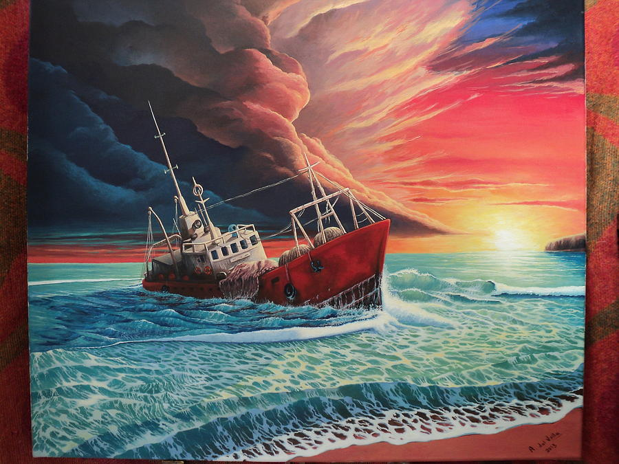 Seascape Painting - After The Storm by Alejandro Del Valle