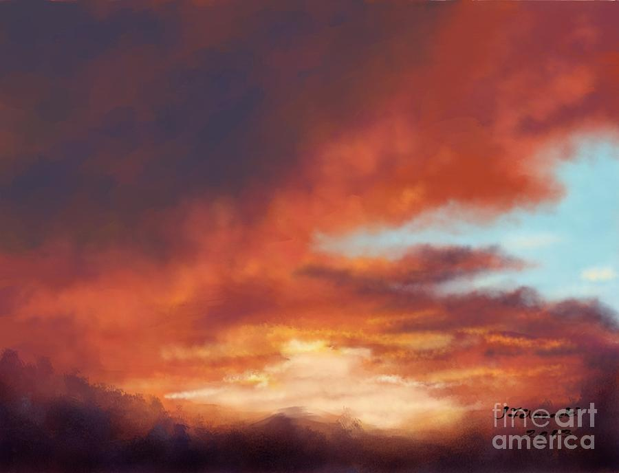 After The Storm Painting - After The Storm by Judy Filarecki