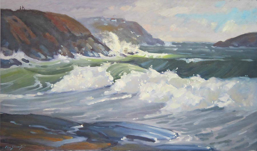 American Impressionist Painting - After The Storm by Len Stomski