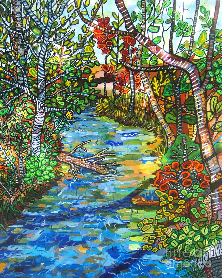 Creek Painting - Afternoon At The Creek by Deborah Glasgow