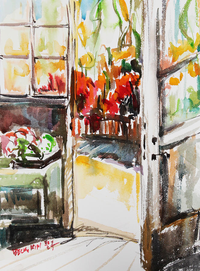 Watercolor Painting - Afternoon by Becky Kim