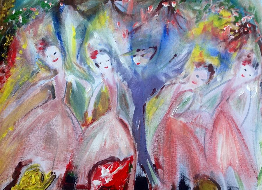 Ballet Painting - Afternoon Bird Ballet by Judith Desrosiers