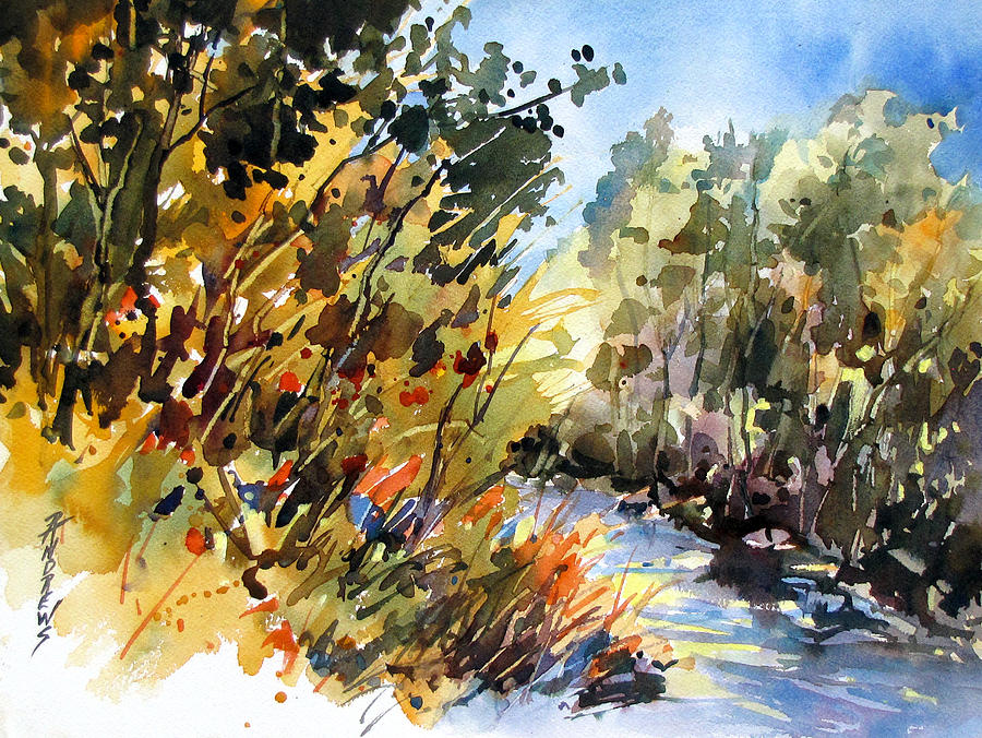 Foliage Painting - Afternoon Glow by Rae Andrews