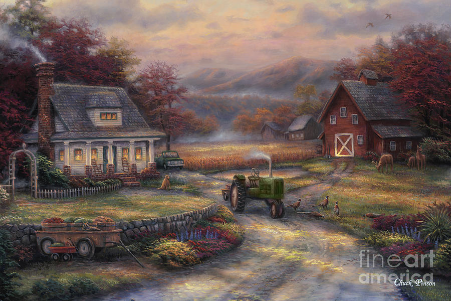 Afternoon Harvest Painting By Chuck Pinson