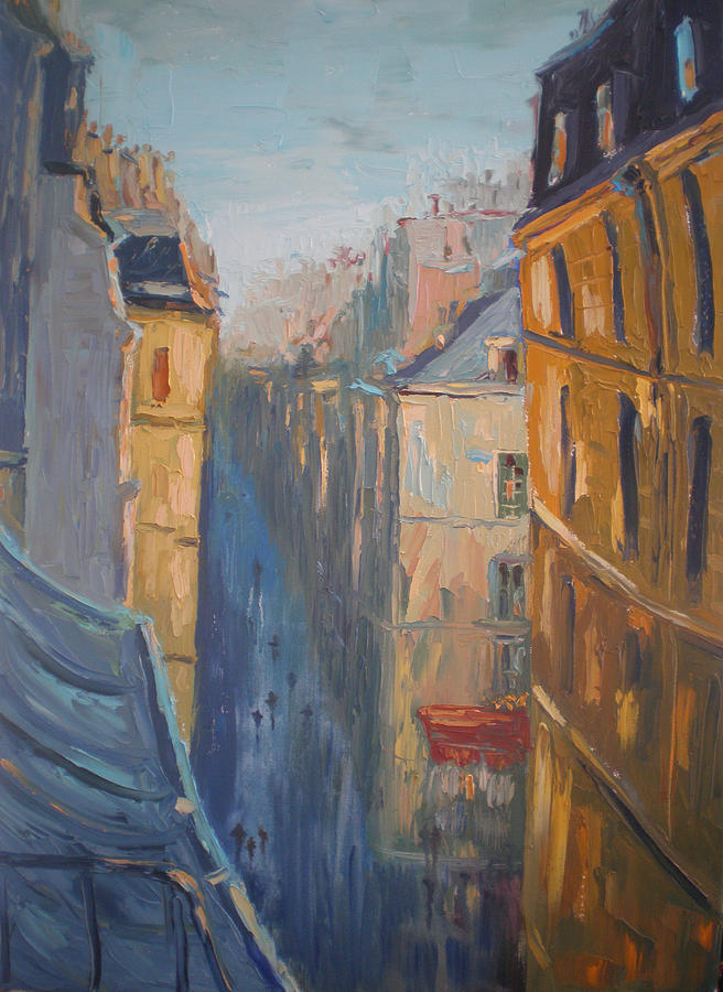 All Painting - Afternoon In Rue Leopold Bellan by NatikArt Creations