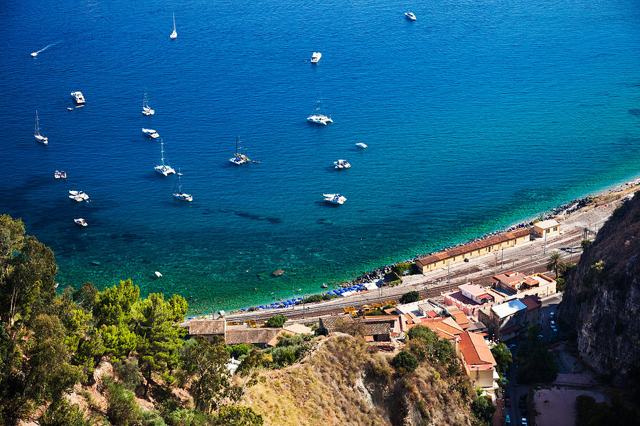 Afternoon Photograph - Afternoon In Taormina by Brad Brizek