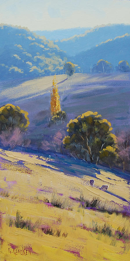 Afternoon Light Grazing Painting