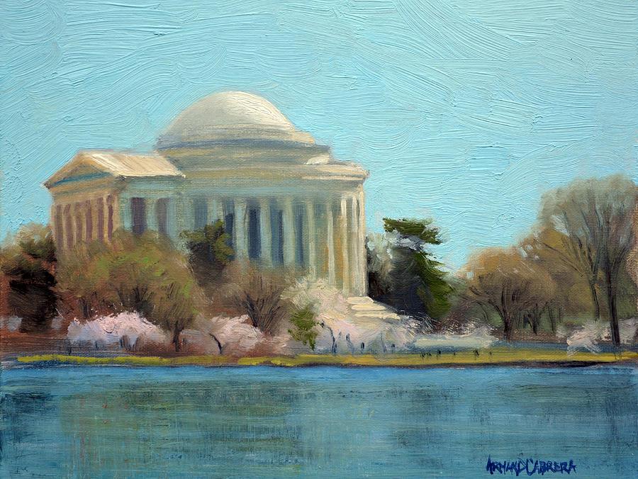 Jefferson Memorial Painting - Afternoon Light Jefferson Memorial by Armand Cabrera