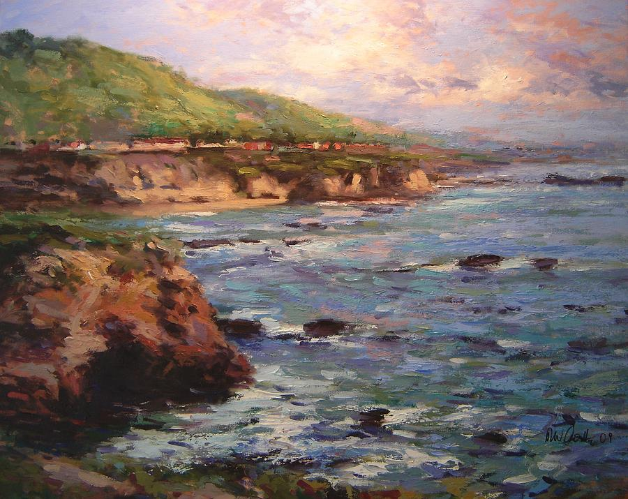 California Painting - Afternoon Near Shell Beach by R W Goetting