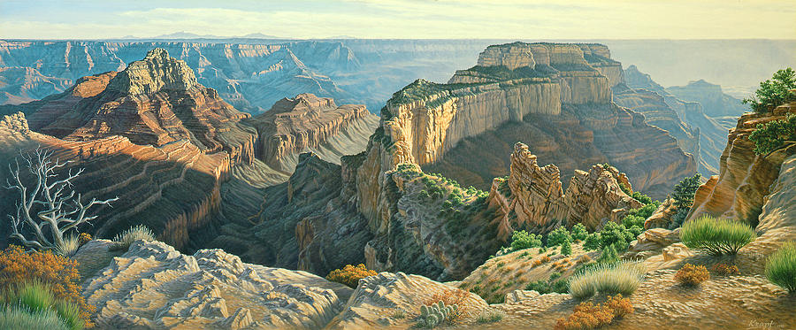 Landscape Painting - Afternoon-north Rim by Paul Krapf
