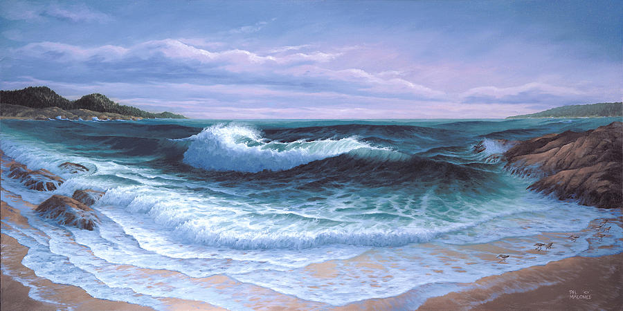 Afternoon on Carmel Bay by Del Malonee