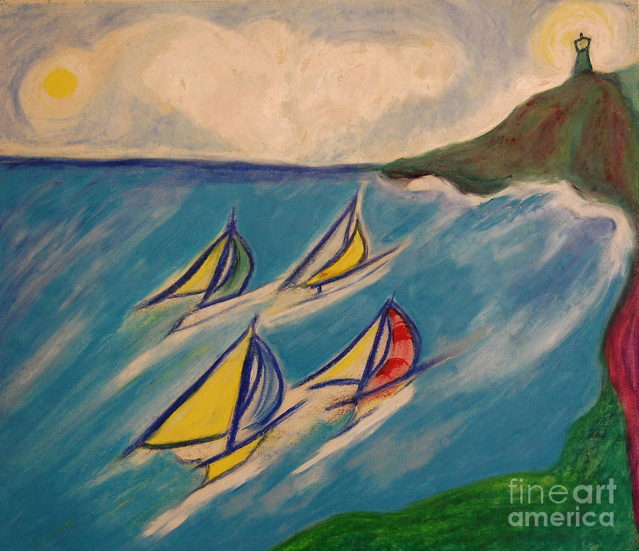 First Star Painting - Afternoon Regatta By Jrr by First Star Art