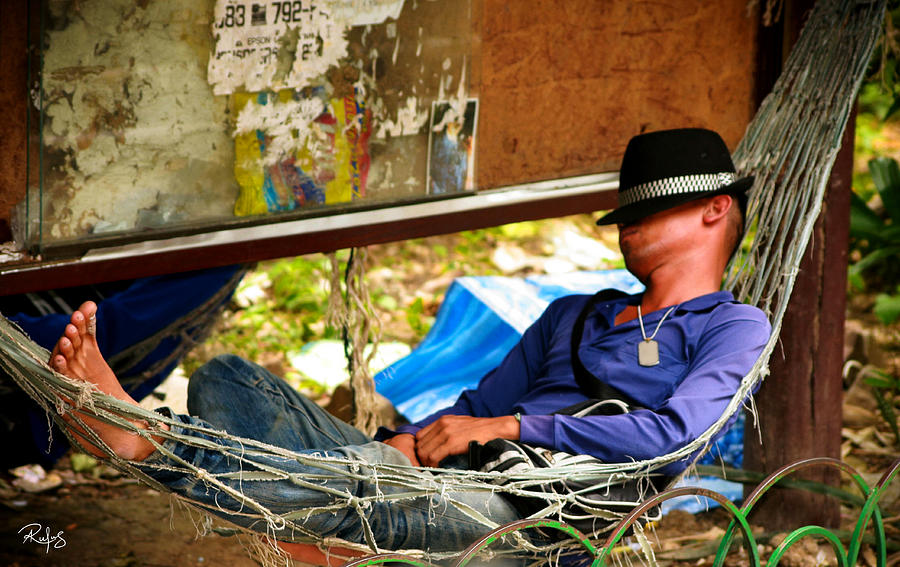 Hammock Photograph - Afternoon Relaxation by Allan Rufus