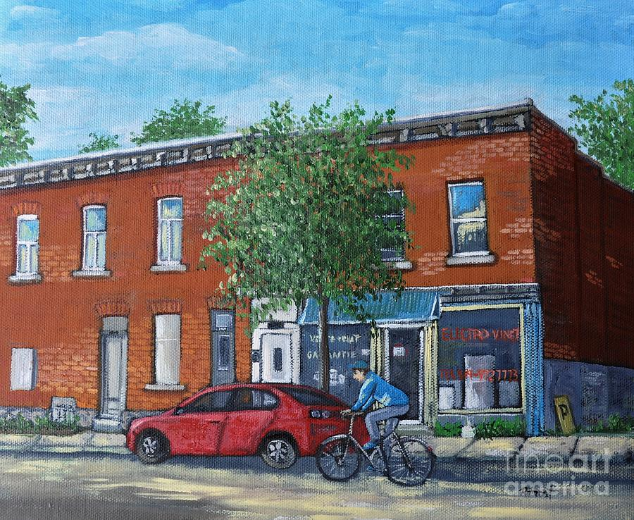 Pointe St Charles Painting - Afternoon Ride Pointe St Charles by Reb Frost