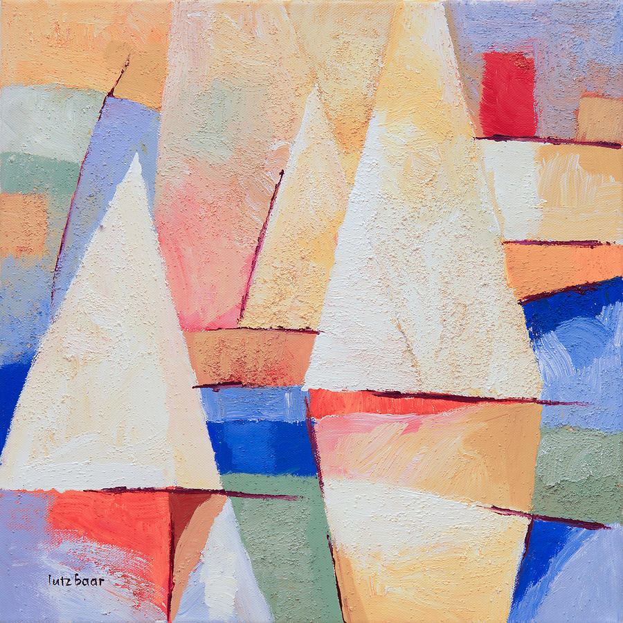 Sails Painting - Afternoon Sails by Lutz Baar