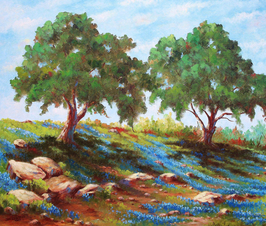 Tree Painting - Afternoon Shade by David G Paul