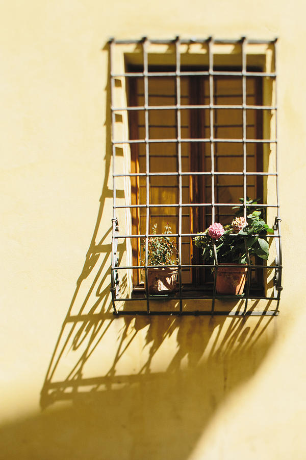 Window Photograph - Afternoon Shadow In Montepulciano by Clint Brewer