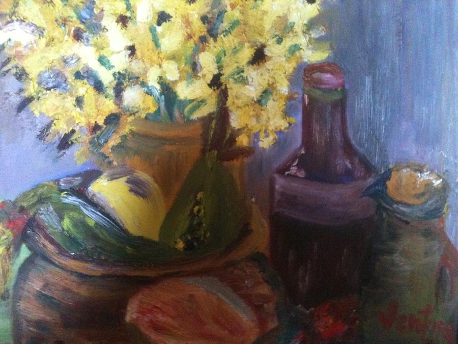 Flowers Painting - Afternoon Still Life Study by Clare Ventura