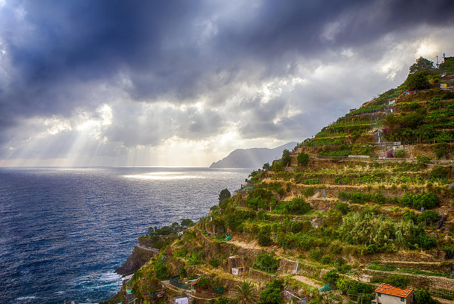 Italy Photograph - Afternoon Storm Clouds Over The Sea by Rick Starbuck
