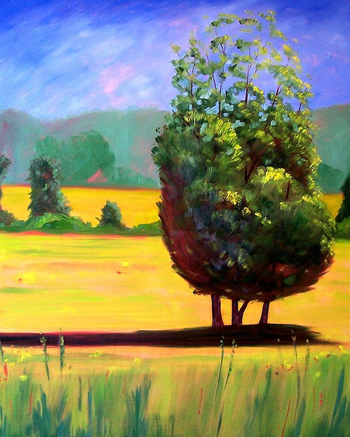 Tree Painting - Afternoon Sun by Nancy Merkle