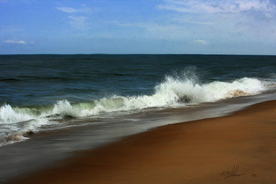 Seascape Painting - Afternoon Surf by Forest Stiltner