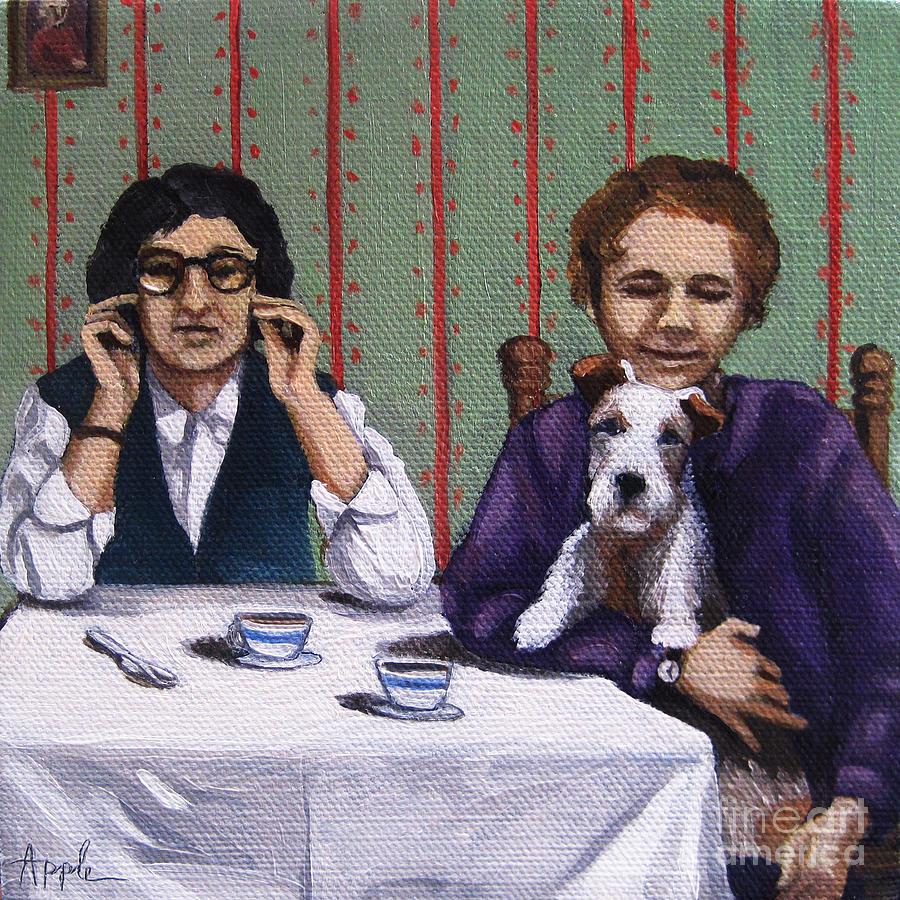Women Painting - Afternoon Tea by Linda Apple