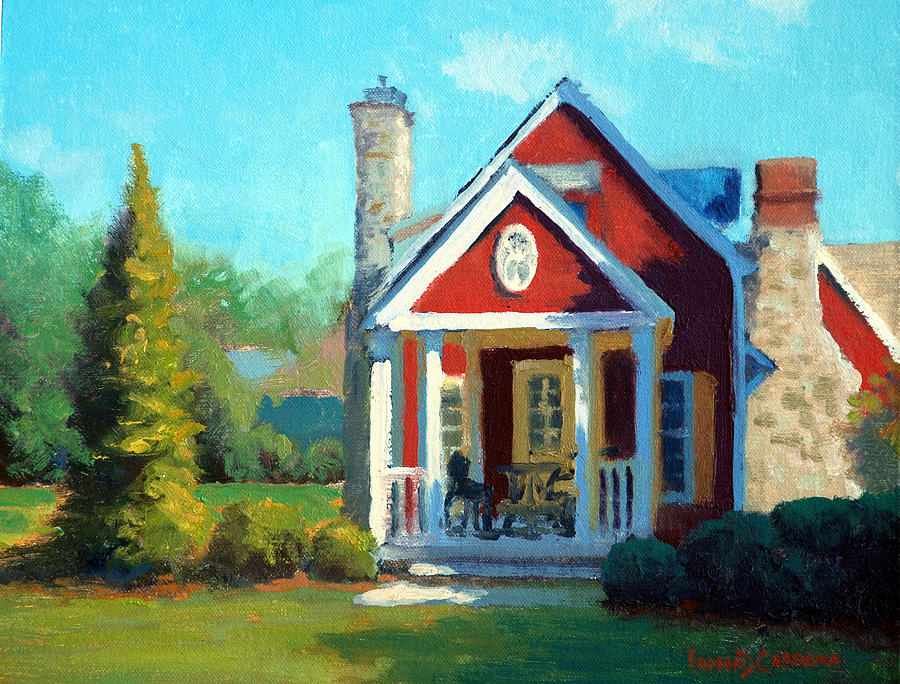 Inn At Little Washington Painting - Afternoon The Gameskeeper Cottage by Armand Cabrera