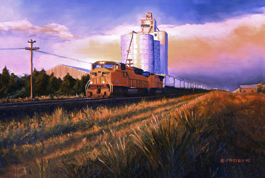 Afternoon Train through Potter by Jerry McElroy