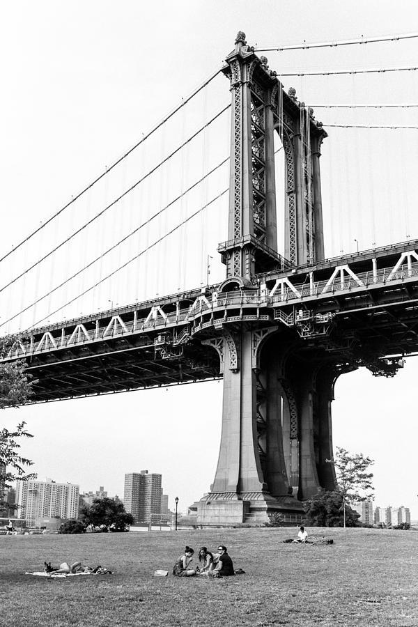 Manhattan Bridge Photograph - Afternoon Under The Manhattan Bridge - Brooklyn Bridge Park by Gary Heller