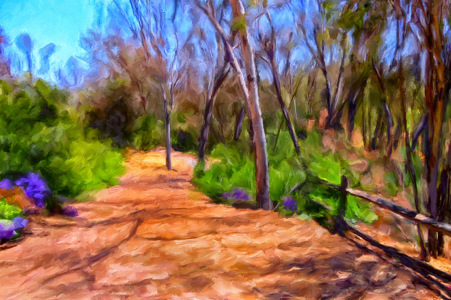Eucalyptus Trees Painting - Afternoon Walk by Michael Pickett