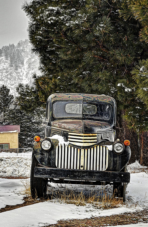 Chevrolet Photograph - Afther The Snow Falls Verticle by Ken Smith