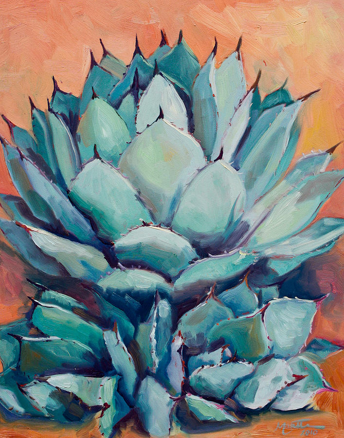 Plant Painting - Agave With Pups by Athena Mantle