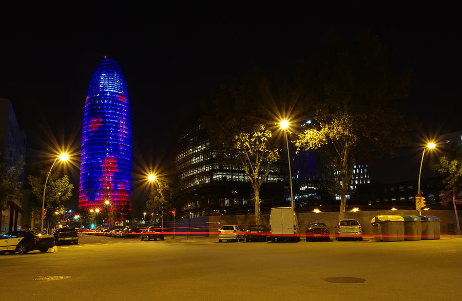 Architecture Photograph - Agbar Tower At Night by Ioan Panaite