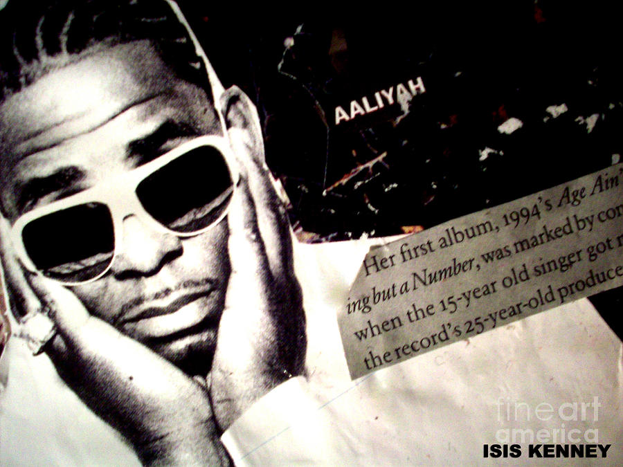 Hip Hop Fine Art Isis Kenney R Kelly Aaliyah Dame Dash Mixed Media - Age Aint Nothing But A Number by Isis Kenney