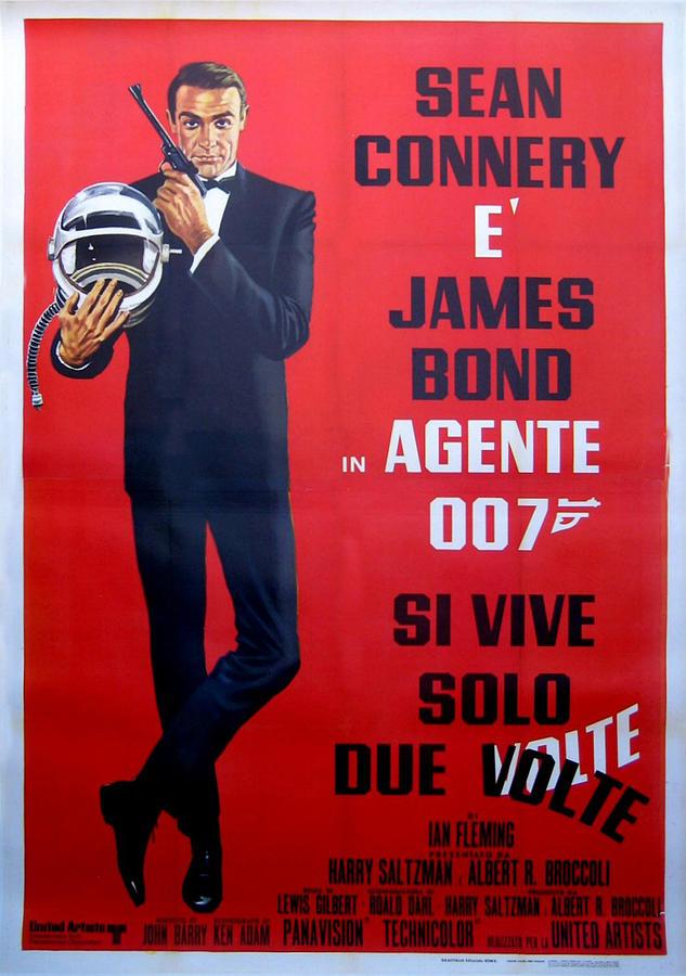 Agente 007 Digital Art - Agente 007 Si Vive Solo Due Volte by Georgia Fowler